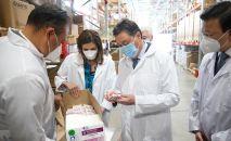 Аскару Мамину доложили о мерах СК-Фармация по лекарственному обеспечению борьбы с COVID-19