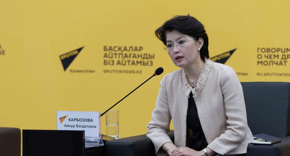 Халықаралық бағдарламалар орталығының президенті Айнұр Кәрібозова