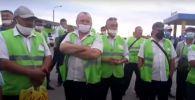 Забастовка водителей автобусов в Семее 10 августа 2020 года