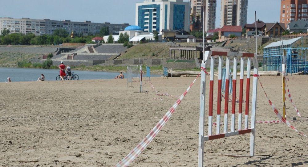 Пляж в Павлодаре