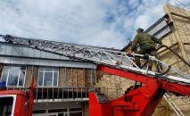 Пожар в доме культуры Кокшетау