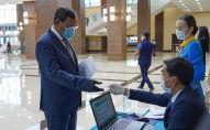 Ахылбек Куришбаев, кандидат в депутаты сената