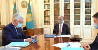 Президент индустрия және инфрақұрылымдық даму министрі Бейбіт Атамқұловты қабылдады
