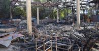 Последствия пожара на киностудии Казахфильм