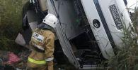 Машат асуы маңында апатқа ұшыраған жолаушылар автобусы