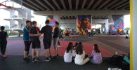 Дитя улиц: астанчане играют в стритбол под мостом
