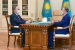 Қазақстан президенті Қасым-Жомарт Тоқаев және мәжіліс спикері Нұрлан Нығматулин