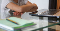 Дистанционное обучение. Школьники перед ноутбуками