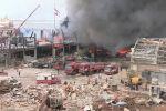 Рядом с местом взрыва в порту Бейрута возник пожар - видео