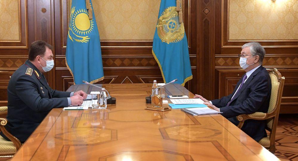 Касым-Жомарт Токаев встретился с главой МЧС Юрием Ильиным