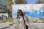 Автором необычной картины стала художница Сауле Сулейменова
