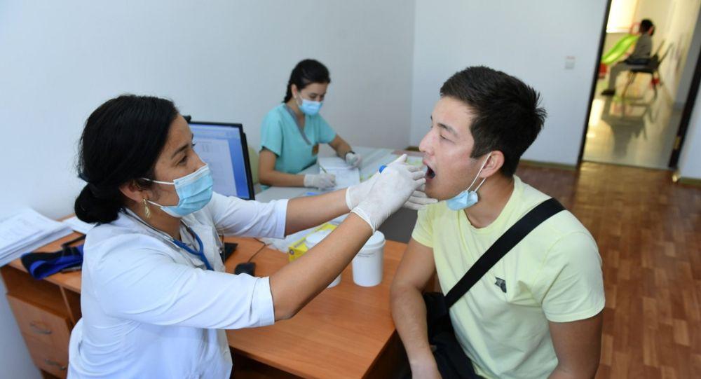 На приеме у врача в поликлинике