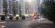 Участок дороги в районе проспекта Момышулы, ставший односторонним