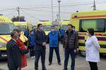 Министр здравоохранения Алексей Цой осмотрел новый парк машин Службы скорой помощи Алматы