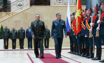 Министры обороны РФ и Казахстана Сергей Шойгу и Нурлан Ермекбаев