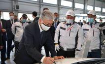 Касым-Жомарт Токаев посетил завод по производству легковых автомобилей Hyundai Trans Kazakhstan