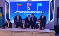 Подписание инвестиционных соглашений в рамках встречи президента Татарстана Рустама Минниханова и премьер-министра Казахстана Аскара Мамина в Костанае