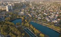 Виды Алматы осенью с высоты птичьего полета
