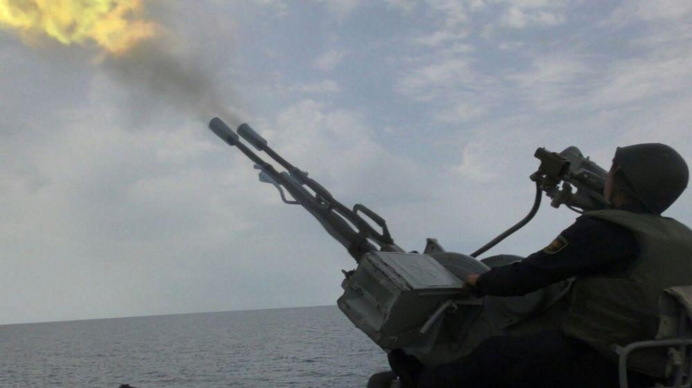В Каспийском море прошло учение Военно-морских сил страны