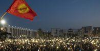 Протесты против итогов парламентских выборов в Кыргызстане