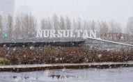 Первый снег в Нур-Султане