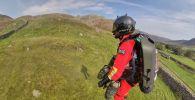Испытания реактивного ранца для горных спасателей
