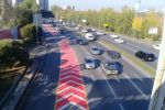 Разметка на аварийно-опасных участках дорог в Алматы