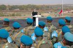 Қазақстан президенті бітімгершілік оқу-жаттығуларында әскери қызметшілердің алдында сөз сөйледі
