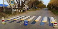 Пешеходный переход в виде оптической иллюзии в Петропавловске
