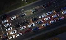 Автомобили в час пик в Нур-Султане