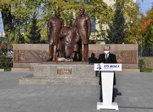 Глава государства Касым-Жомарт Токаев на церемонии открытия памятника ′′Великий поэт Абай с сыновьями′′