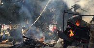 Пожар в ущелье Ворота Туюк Су