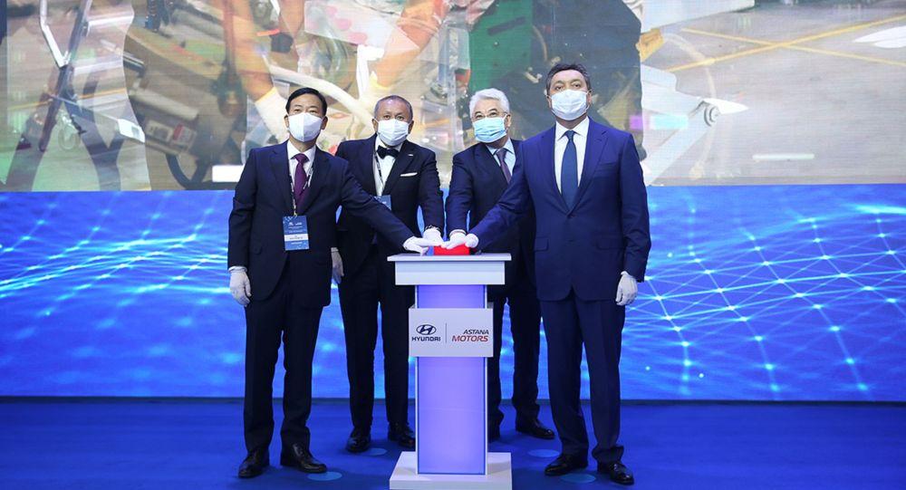 Аскар Мамин принял участие в церемонии открытия завода по сборке автомобилей Hyundai