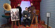 Инсталляция Абай с сыновьями в музее города Семея