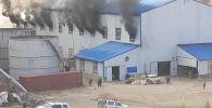 На месторождении Иштамберды крупный пожар
