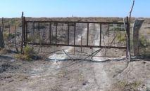 Түркістан облысындағы қоршалған жер