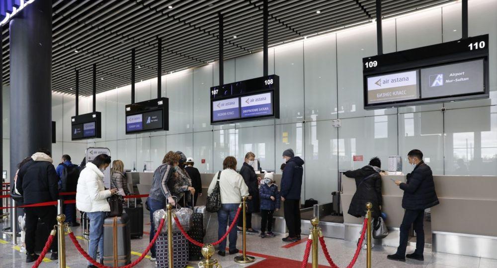 Аэропорт, регистрация пассажиров
