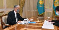 Касым-Жомарт Токаев принял акима Кызылординской области Гульшару Абдыкаликову