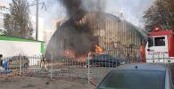 Пожар в микрорайоне Аксай-1