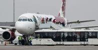 Самолет FlyArystan в аэропорту Алматы