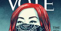 Стрит-арт-художник Шепард Фейри нарисовал обложку журнала Time
