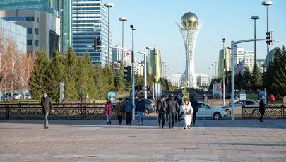Осень в Нур-Султане виды города