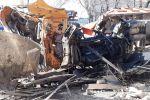 Грузовик разорвало во дворе частного дома в ДТП на улице Дулати