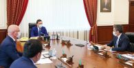 Премьер-министр Аскар Мамин встретился с гендиректором российской нефтяной компании Татнефть Наилем Магановым