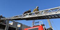 Отработка спасения пострадавших в зоне предполагаемого бедствия на тренировке МЧС