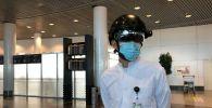 В аэропорту столицы тестируют смарт-шлем со встроенным тепловизором