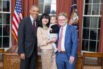 Асель Толенова и Барак Обама