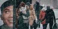 Ноябрьский снегопад в Нур-Султане