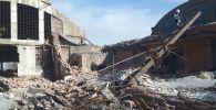 В заброшенном здании в Балхаше рухнула стена