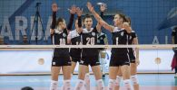 Сабина Алтынбекова с коллегами по команде